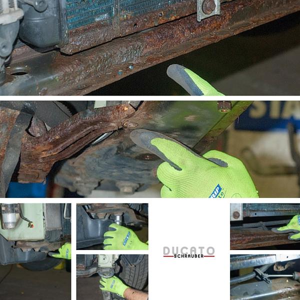 Ausbau der Traverse beim Auswechseln der unteren Traverse am Ducato 230/244- Ducatoschrauber