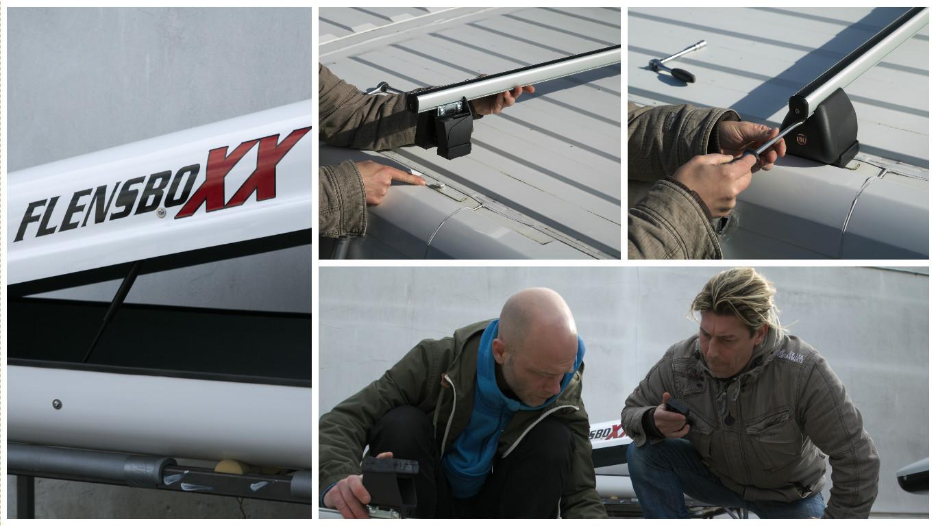 Montage eines Dachgepäckträgers