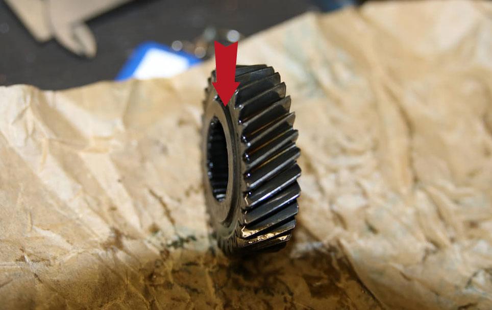 Nut am kleinen Zanhrad fünfter Gang Ducato Typ 244 - Ducatoschrauber