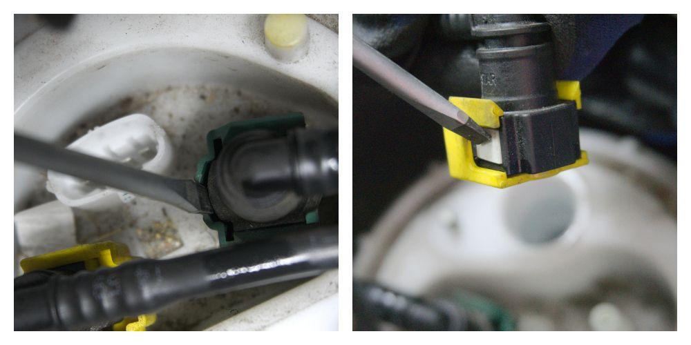Kraftstoffleitungen am Tankgeber Fiat Ducato Typ 250 - ducatoschrauber.de