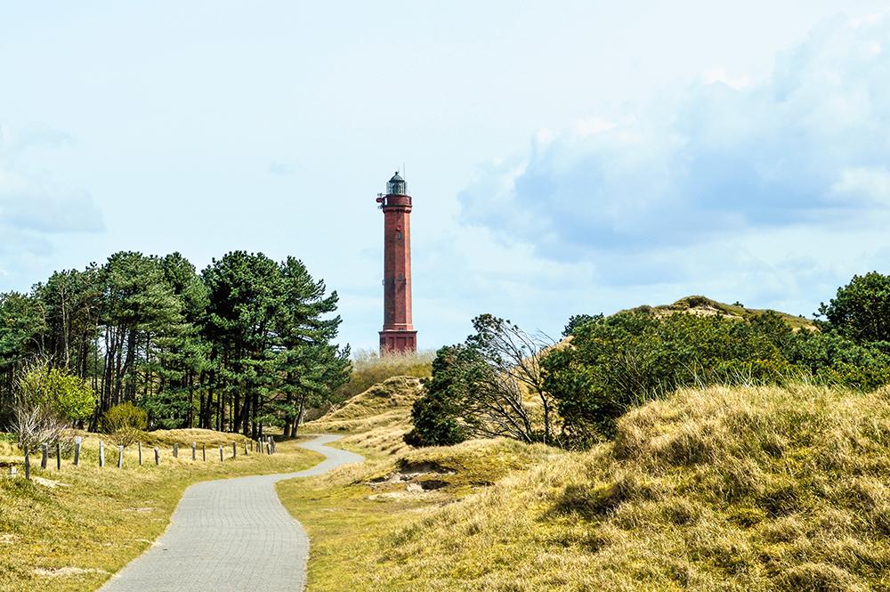Roter Leuchtturm auf Norderney.
